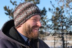 This is a PDF crochet pattern for a simple beanie with great looking texture in 7 sizes. Looks great with variegated yarn!
