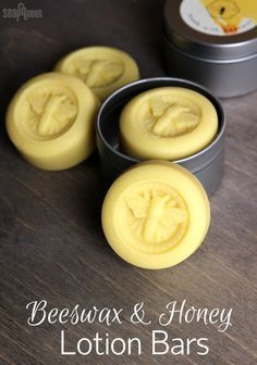 Lotion Bars DIY Beeswax and Honey Lotion Bars DIY // Learn how to make these lotion bars with olive oil, shea butter and beeswax.Beeswax and Honey Lotion Bars DIY // Learn how to make these lotion bars with olive oil, shea butter and beeswax. Lotion Bars Diy, Lotion En Barre, Homemade Beauty Products, Home Made Soap, Home Made Lotion, Body Butter, Bath Bombs, Shower Bombs, Soap Making