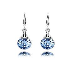 (1 Pair)Fashion (Autumn River) Champagne Gold and Light Blue  Alloy Drop Earrings – AUD $ 14.83