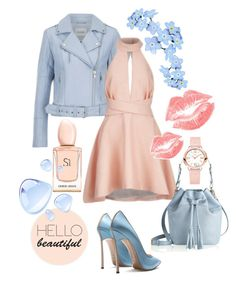 """""""spring"""" by explorer-14181574792 ❤ liked on Polyvore featuring Gestuz, C/MEO COLLECTIVE, GiGi New York, Fendi, Manic Panic, Armani Beauty and spring2016"""