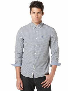 LONG SLEEVE GINGHAM HERITAGE FIT SHIRT Total Eclipse, Workout Shirts, Gingham, Shirt Dress, Long Sleeve, Fitness, Sleeves, Mens Tops, Clothes