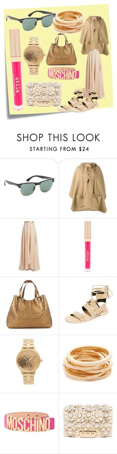 """nice set for alert"" by denisee-denisee ❤ liked on Polyvore featuring Post-It, Ray-Ban, Chloé, Lanvin, Stila, Bottega Veneta, Rebecca Minkoff, Nixon, Kenneth Jay Lane and Moschino"