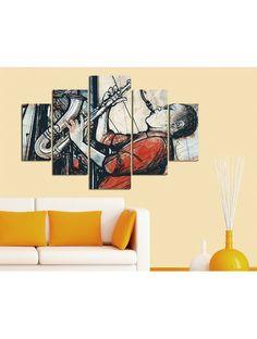 Venta privada Cuadro de 5 piezas Músico Deco Wall