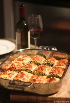 Giadas Lasagna Roll with bechamel sauce (can use Italian sausage instead of prosciutto)