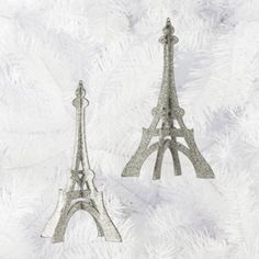 Eiffel Tower Glittered Ornament from Z Gallerie