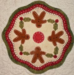 """""""Ginger Boys"""" Penny Rug CANDLE MAT"""