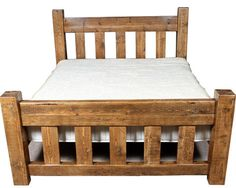 Moss Reclaimed Wood Panel Bed (image 1) modish living