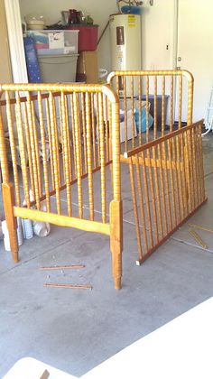 took an old drop side crib and made a baby gate kids stuff pinterest baby gates. Black Bedroom Furniture Sets. Home Design Ideas