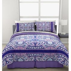 American Campus Valencia Medallion Mini Bedding Comforter Set. This would probably go best with madison's curtains but its a pretty....adult.