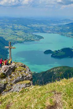 Blick vom Schafberg Richtung Mondsee Salzburg, Austria, Mountains, World, Nature, Travel, Best Vacation Spots, Environment, Travel Advice