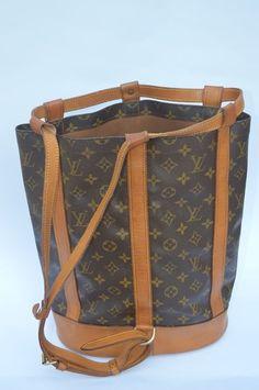 Louis Vuitton Randonnee tas coated canvas leder