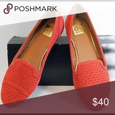 Coral Red DV Flats Great used condition Dolce Vita Shoes Flats & Loafers