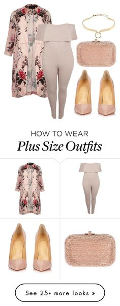 """""""plus size fashion"""" by theblushingbeauty on Polyvore featuring River Island, Boohoo, Judith Leiber, Christian Louboutin and Alexis Bittar"""