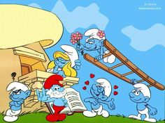 """Ahh, the Smurfs! I am still obsessed with them only now I play the Smurfs Village"""" on my iPhone! I also have plush toy Smurfs and a Smurfette remote control car :) Easily one of my favourite childhood tv shows. Disney Marvel, Classic Cartoons, Cool Cartoons, Retro Cartoons, The Smurfs, Sailor Moon, Desenhos Hanna Barbera, Smurf House, Days Anime"""