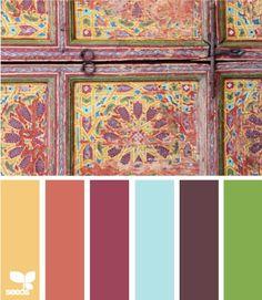 #Beautiful #antique #color #palette of #soft #warm colors