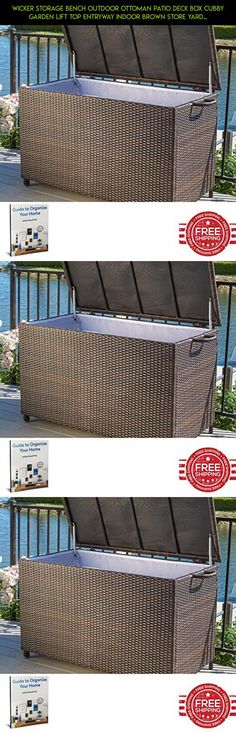 Wicker Storage Bench Outdoor Ottoman Patio Deck Box Cubby Garden Lift Top Entryway Indoor Brown Store Yard Furniture & Ebook by Easy2Find. #technology #shopping #parts #kit #fpv #tech #camera #drone #ottoman #products #storage #gadgets #large #racing #plans