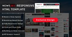 cool Information365 - Information / Journal Responsive HTML Template (Inventive)