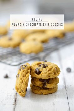 This is the ultimate chewy chocolate chip recipe with a seasonal pumpkin twist! These cookies are great for a party or any day you feel like whipping up a batch. Fire up the oven and read on to see our special tip that makes these cookies extra chewy! #cookies #recipes #fallrecipes #chocolatechipcookies #pumpinrecipes #fall #cookierecipes