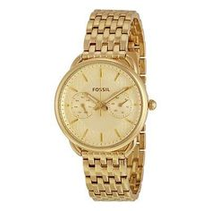 c3df6f2b7a Wristwatches 31387  Fossil Women S 35Mm Gold-Tone Steel Bracelet And Case  Quartz Analog Watch Es3714 -  BUY IT NOW ONLY   102.95 on eBay!