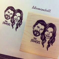Custom Portrait Stamp @lilimandrill www.lilimandrill.fr @etsy #savethedate #EtsyGifts #selfie #etsywedding #wedding #bridesmaid #bride #diy #giftforcouple #portraitstamp #stamp #personalizedgift #gift #christamsshopping #christmasgift #weddinggift #Love #lovers #engaged #uniquegift #bacheloretteparty