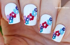 #Colorful #Flower #Nailart / https://www.youtube.com/user/LifeWorldWomen