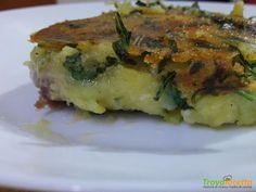 Trancio di tonno in crosta di patate e rucola #ricette #food #recipes