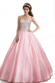 bd27c2cee44 Sweet Ball Gown Sweetheart Natural Train Organza Pink Sleeveless Zipper  Quinceanera Dress with Crystals COZT1403B  229.00 Quinceanera Dress