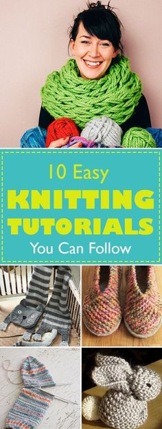 You love knitting and you sure love creating stuff. You can use your love for knitting to create useful stuff for you and your family. Here are some of the easiest things you can make and we got you the tutorials.