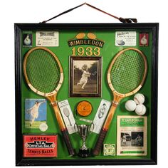 """Nice and Amusing Collage as a Tribute to the """"Wimbledon"""" Games 1933 