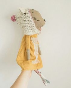 ❤︎   fawn doll with knitted bonnet