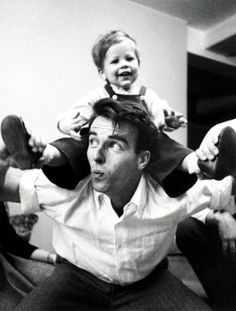 Montgomery Clift with Stanley Kubrick's kid photo by Kubrick