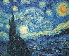 La Nuit étoile -Vincent Van Gogh 1889