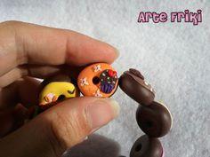 Pulsera Donuts Arcilla Polimérica