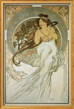 The Arts: La Musique Premium Giclee Print by Alphonse Mucha at Art.com