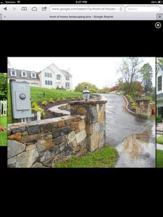 Love this retaining wall idea for my driveway looking to for Landscaping rocks daytona beach