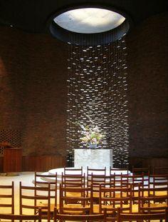 MIT Chapel, Boston, Mass. designed by Eero Saarinen (1952) Sculpture by Harry Bertoia