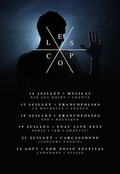Lescop - Tour Poster 2012 Francofolies La Rochelle, La Rochelle France, Lausanne, Paris I, Tour Posters, Movie Posters, Spa, Tours, Movies