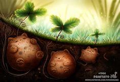 Cute Animal Drawings Kawaii, Kawaii Drawings, Cute Drawings, Cute Fantasy Creatures, Cute Creatures, Creature Drawings, Colorful Animals, Anime Animals, Cute Illustration