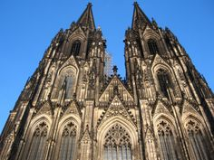 """""""There are several large Cathedrals here (Cologne). One commenced in 1248, and said to be the finest Gothic church in the world, is an immense structure and externally is nearly covered with cut stone and two spires, said to be the highest in the world, each over five hundred feet in height."""" WSC, 1884."""