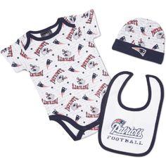 NFL New England Patriots Bodysuit, Bib & Cap Set Infant/Toddler Boys' « Ever Lasting Game