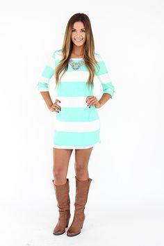 Mint Color-block Dress