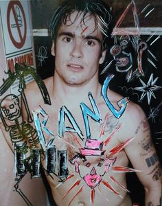 Autenticidade Vintage Henry Rollins ( punk / black flag / photography / mixed media )
