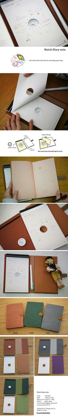 watch diary notebook - a cool way to keep up with your agenda! via connect design - $19