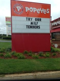 Popeyes funny sign