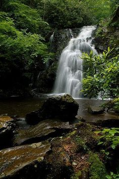 and less crowded than most places in the Smokies :) Spruce Flatt Falls - Smoky Mountains, Tennessee  Beautiful Waterfalls, Beautiful Landscapes, Cyclades Greece, Places To Travel, Places To See, Beau Site, Les Cascades, Mountain Vacations, Smoky Mountain National Park