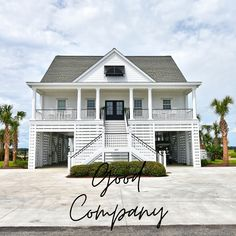 Good Company is a five-bedroom, three-bath channel front home located 3.7 miles south of Garden City Pier in Inlet Harbor. Sleeping accommodations include two king and five queen-sized beds. This property features panoramic views of the inlet.
