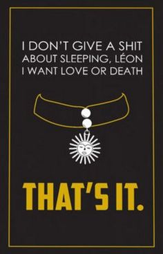 Leon: The Professional (1994) ~ Movie Quote Poster by Casey Wenstrom #amusementphile