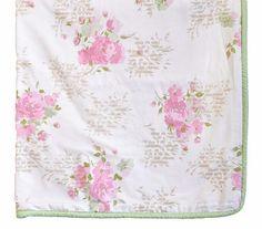 $50, Rose Floral Crib Blanket