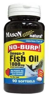 Mason Natural No Burp Omega3 Fish Oil 1000 mg  90 Easy to Swallow Gelcaps PACK OF 2 >>> More info @