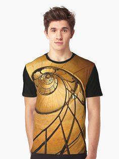 'Fibonacci spiral in Arc de Triomphe' T-Shirt by Hercules Milas